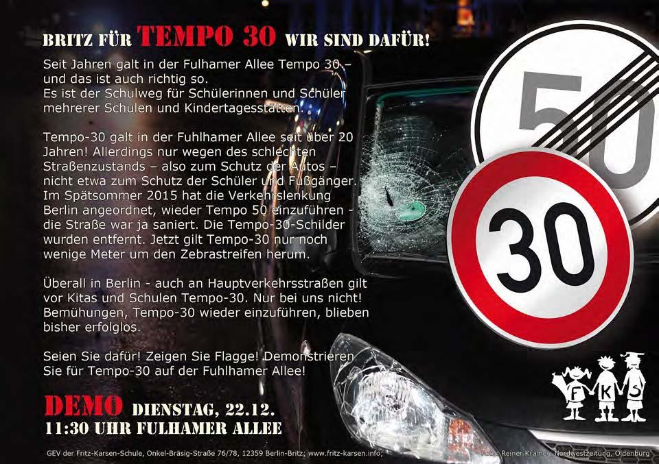 Tempo 30 - Demo - Back